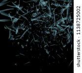 vector glass explosion concept... | Shutterstock .eps vector #1138725002