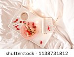 tasty cake with cup of coffee...   Shutterstock . vector #1138731812