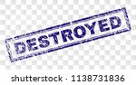 destroyed stamp seal print with ... | Shutterstock .eps vector #1138731836