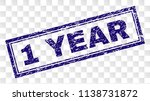 1 year stamp seal print with... | Shutterstock .eps vector #1138731872