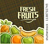 poster for set of fresh fruits... | Shutterstock . vector #1138732745