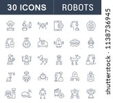 set of vector line icons  sign... | Shutterstock .eps vector #1138736945