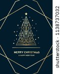 merry christmas and happy new... | Shutterstock .eps vector #1138737032