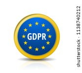 eu gdpr label illustration | Shutterstock .eps vector #1138740212
