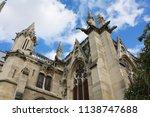 notre dame paris france... | Shutterstock . vector #1138747688