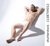 sexy man in underwear. muscular ... | Shutterstock . vector #1138754012