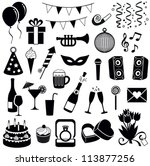 party and celebration icon... | Shutterstock .eps vector #113877256