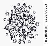 beautiful appel flovers in... | Shutterstock .eps vector #1138773335