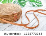 fashionable handmade natural...   Shutterstock . vector #1138773365