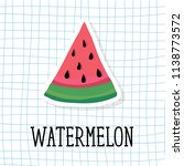 watermelon style vector... | Shutterstock .eps vector #1138773572
