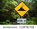 volcano sign volcano's... | Shutterstock . vector #1138781708