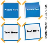 vector picture   text frame... | Shutterstock .eps vector #113878735