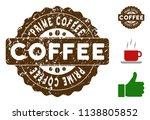 prime coffee award medallion... | Shutterstock .eps vector #1138805852