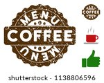 menu award medallion stamp.... | Shutterstock .eps vector #1138806596