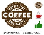 coffee time reward medallion... | Shutterstock .eps vector #1138807238