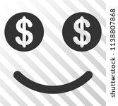 lucky smiley vector pictograph. ... | Shutterstock .eps vector #1138807868