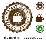instant coffee medallion stamp. ... | Shutterstock .eps vector #1138807892