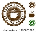 fresh coffee medallion stamp.... | Shutterstock .eps vector #1138809782
