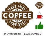 take away award medallion stamp.... | Shutterstock .eps vector #1138809812