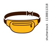 fanny pack  waist bag  drawing. ... | Shutterstock .eps vector #1138811318