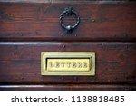 A Dark Doorknob Above A Rustic...