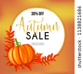 autumn sales banners with... | Shutterstock .eps vector #1138821686