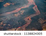 lava flow from fissure 8 | Shutterstock . vector #1138824305