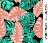 tropical pattern. seamless...   Shutterstock .eps vector #1138825058