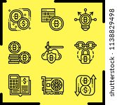 simple icon set of bitcoin... | Shutterstock .eps vector #1138829498
