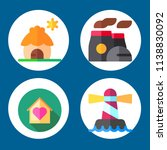 simple 4 icon set of building... | Shutterstock .eps vector #1138830092