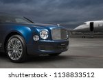 bentley mulsanne and bombardier ... | Shutterstock . vector #1138833512