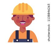 construction man worker with... | Shutterstock .eps vector #1138846265