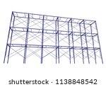 scaffolding frame 3 floors... | Shutterstock .eps vector #1138848542