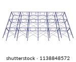 scaffolding frame 3 floors... | Shutterstock .eps vector #1138848572