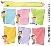 family frame collection. | Shutterstock .eps vector #1138850786