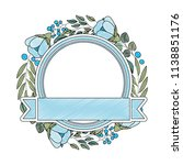 frame with beautiful flower and ... | Shutterstock .eps vector #1138851176