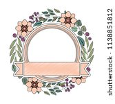 frame with beautiful flower and ... | Shutterstock .eps vector #1138851812