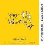 handwritten calligraphy  ... | Shutterstock .eps vector #1138852805