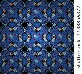 vector tibet mandala seamless... | Shutterstock .eps vector #1138856372