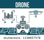 drone technology futuristic | Shutterstock .eps vector #1138857578