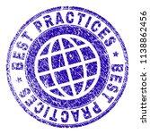 best practices stamp imprint... | Shutterstock .eps vector #1138862456