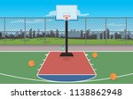 out door basketball court  | Shutterstock .eps vector #1138862948