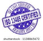 iso 13485 certified stamp seal... | Shutterstock .eps vector #1138865672