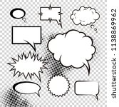 a set of comic bubbles and...   Shutterstock .eps vector #1138869962