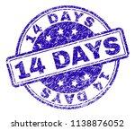14 days stamp seal watermark... | Shutterstock .eps vector #1138876052