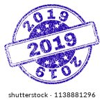 2019 stamp seal watermark with... | Shutterstock .eps vector #1138881296