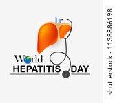 illustration of world hepatitis ...   Shutterstock .eps vector #1138886198