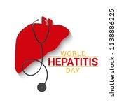 illustration of world hepatitis ...   Shutterstock .eps vector #1138886225