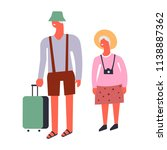 vector old man and woman couple ... | Shutterstock .eps vector #1138887362