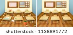 a classroom before and after... | Shutterstock .eps vector #1138891772